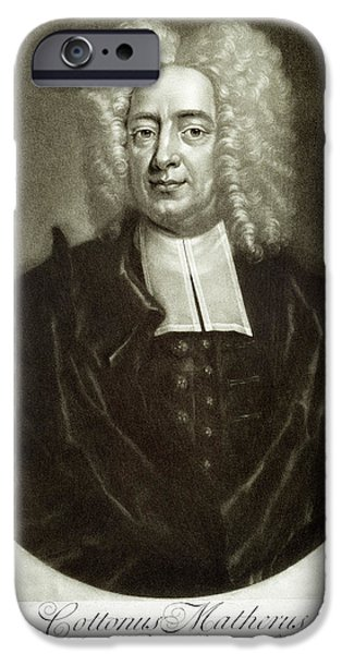 18th iPhone Cases - Cotton Mather 1663-1728 iPhone Case by Granger