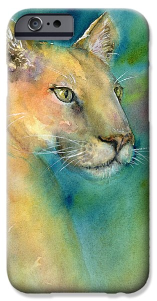 Wild Cats iPhone Cases - Cougar iPhone Case by Amy Kirkpatrick