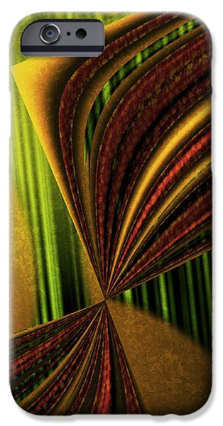 Counterpoint iPhone Cases - Counterpoint 3 - Abstract Art iPhone Case by Vic Eberly
