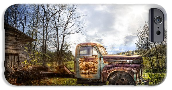 1956 Ford Truck iPhone Cases - Country Afternoon iPhone Case by Debra and Dave Vanderlaan