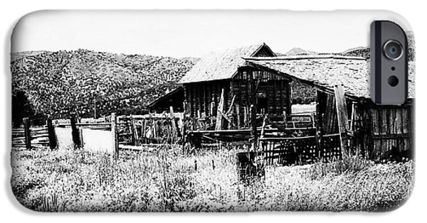 Old Barns iPhone Cases - Country Barn 3 iPhone Case by Chris Berry