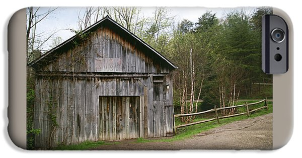Old Barns iPhone Cases - Country Barn iPhone Case by Angela Morales