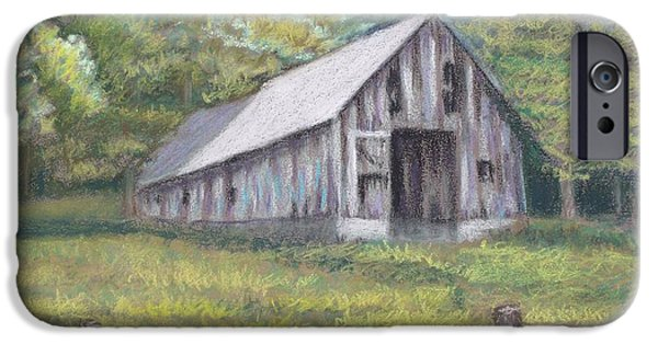 Old Barns iPhone Cases - Country Barn iPhone Case by Karen Brannon