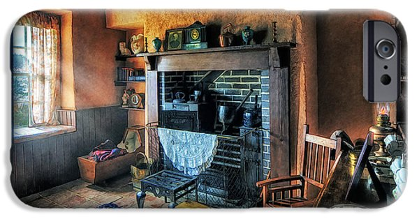 Furniture iPhone Cases - Country Cottage iPhone Case by Ian Mitchell