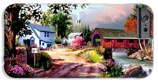 Covered Bridge iPhone Cases - Country Covered Bridge iPhone Case by Ronald Chambers