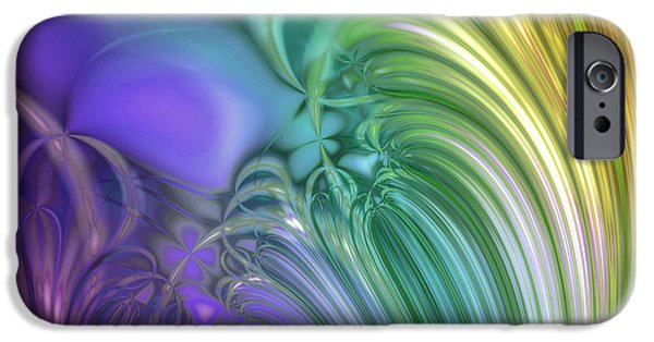 Fractal Paintings iPhone Cases - Country Dusk iPhone Case by Mindy Sommers