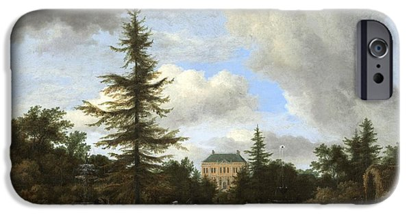 Vale iPhone Cases - Country House in a Park iPhone Case by Celestial Images