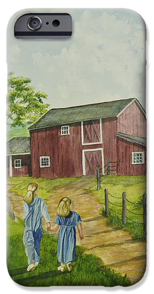 Country Kids iPhone Case by Charlotte Blanchard
