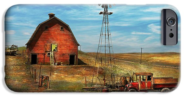 Antiques iPhone Cases - Country - ND - Dirt farming 1936 iPhone Case by Mike Savad