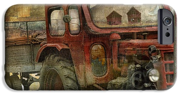 Old Barn Paintings iPhone Cases - Country Reflections iPhone Case by Mindy Sommers