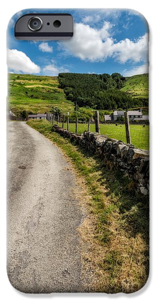 Bush Digital iPhone Cases - Country Road  iPhone Case by Adrian Evans