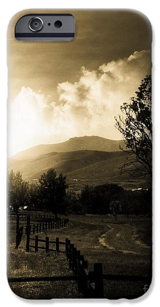 Mount Rose iPhone Cases - Country Road  iPhone Case by Bobbee Rickard