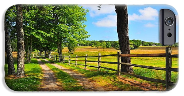 Old Country Roads Photographs iPhone Cases - Country Road iPhone Case by Catherine Reusch  Daley