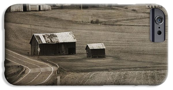Old Country Roads Photographs iPhone Cases - Country Road Holmes County Ohio iPhone Case by Dan Sproul
