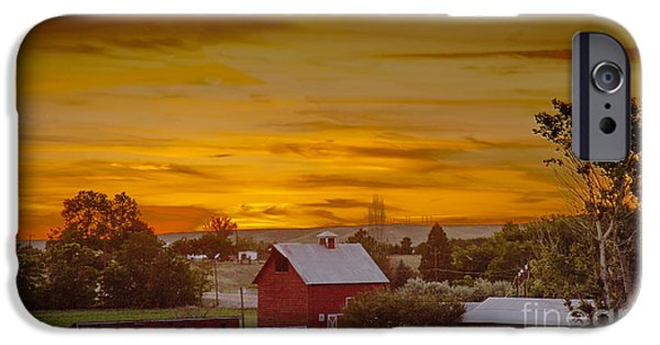 Old Barns iPhone Cases - Country Sunset iPhone Case by Robert Bales