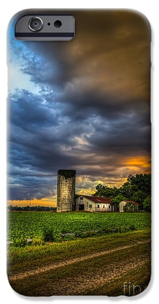 Silos iPhone Cases - Country Tempest iPhone Case by Marvin Spates