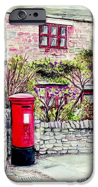 Village iPhone Cases - Country Village Post Box iPhone Case by Morgan Fitzsimons