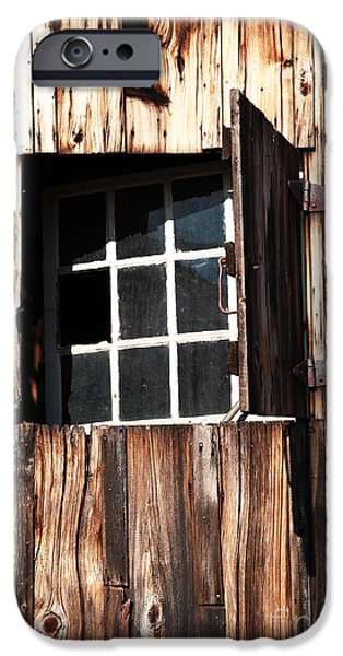 Old Barn Poster Photographs iPhone Cases - Country Window iPhone Case by John Rizzuto