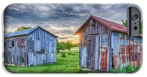 Old Barn iPhone Cases - Countryside Barns 2 iPhone Case by Barry Cruver