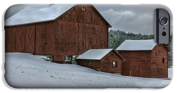 Old Barn iPhone Cases - Countryside Scenic - Vintage Barns of Berkshire County iPhone Case by Thomas Schoeller