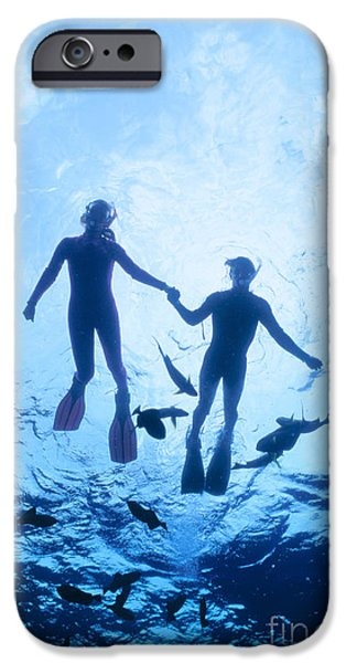 Couple At The Surface iPhone Case by Ed Robinson - Printscapes