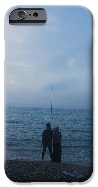 Ocean Sunset iPhone Cases - Couple iPhone Case by Yaniv Eitan