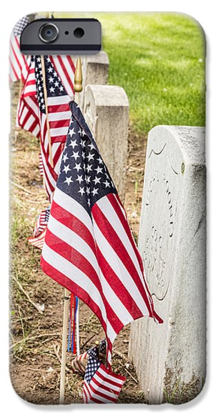 American Flag iPhone Cases - Courage Desire to Live Readiness to Die  iPhone Case by James BO  Insogna