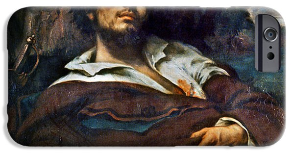 1850s iPhone Cases - Courbet: Self-portrait iPhone Case by Granger