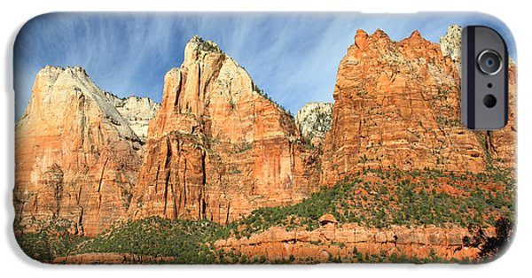 Patriarch iPhone Cases - Court of the Patriarch in Zion iPhone Case by Pierre Leclerc Photography