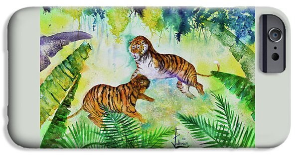 Preditor iPhone Cases - Courting Tigers. iPhone Case by Larry  Johnson