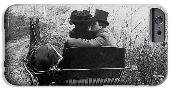 1904 iPhone Cases - Courtship/carriage Ride iPhone Case by Granger