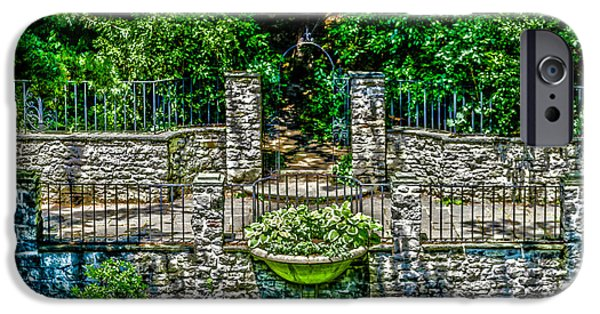 Balcony iPhone Cases - Courtyard Entrance iPhone Case by William Norton