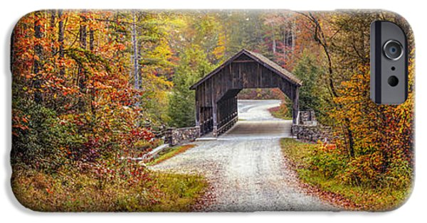 Covered Bridge iPhone Cases - Covered Bridge of Dupont iPhone Case by Stacy Redmon