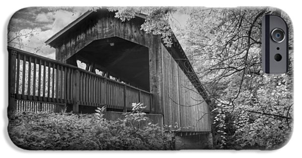 Covered Bridge iPhone Cases - Covered Bridge on the Thornapple River iPhone Case by Randall Nyhof