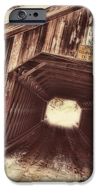 Covered Bridge iPhone Cases - Covered Bridge Vermont iPhone Case by Mindy Sommers