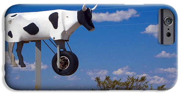 Cow iPhone Cases - Cow Power iPhone Case by Skip Hunt