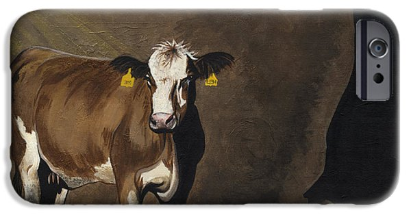 Advocacy iPhone Cases - Cow Shadow iPhone Case by Twyla Francois