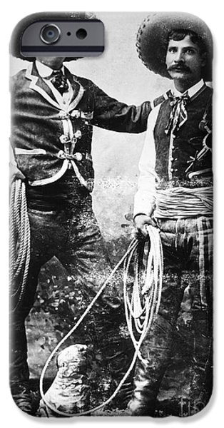 1900 iPhone Cases - COWBOYS, c1900 iPhone Case by Granger