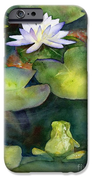 Waterlily iPhone Cases - Coy Koi iPhone Case by Amy Kirkpatrick