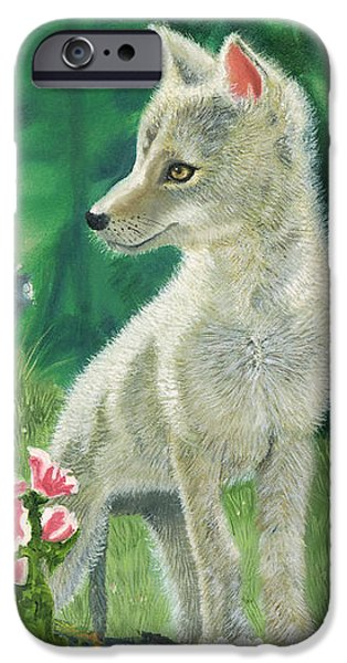 Coyote Pup iPhone Case by TERRY LEWEY