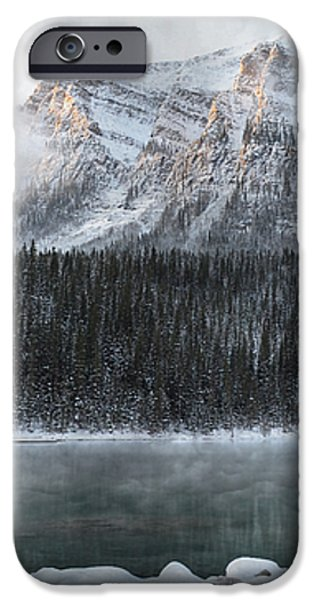 Cozy Cabin Morning iPhone Case by Andrea Hazel Ihlefeld
