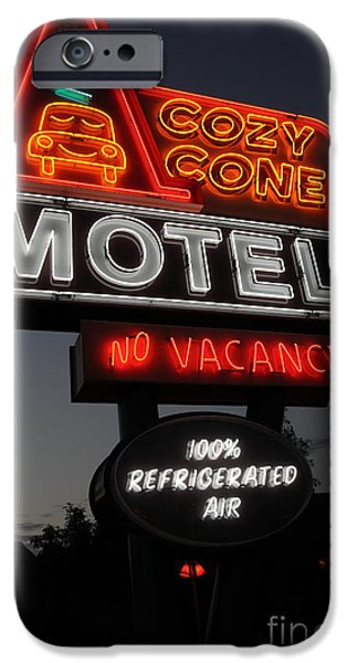 Cozy Cone Motel - Radiator Springs Cars Land - Disney California Adventure - 5D17746 iPhone Case by Wingsdomain Art and Photography