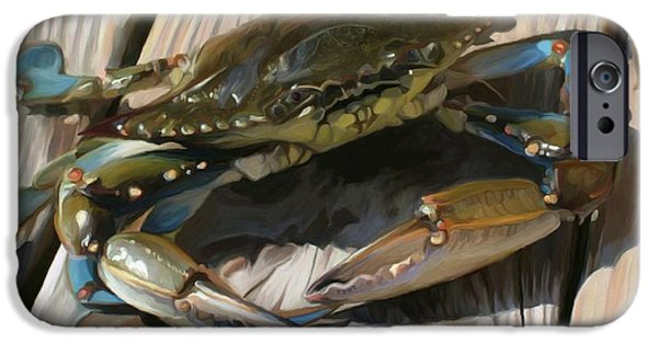 Seafood iPhone Cases - Crabbie iPhone Case by Patti Siehien