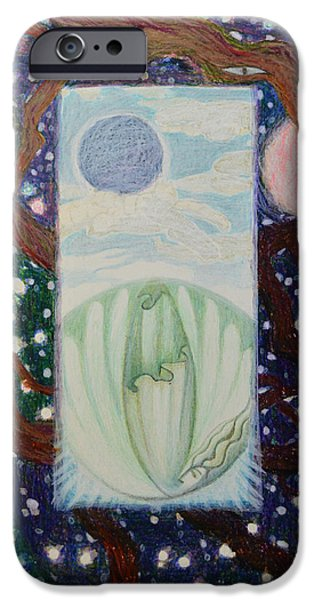 Angel Blues iPhone Cases - Crack In Clouds iPhone Case by Nancy Mauerman
