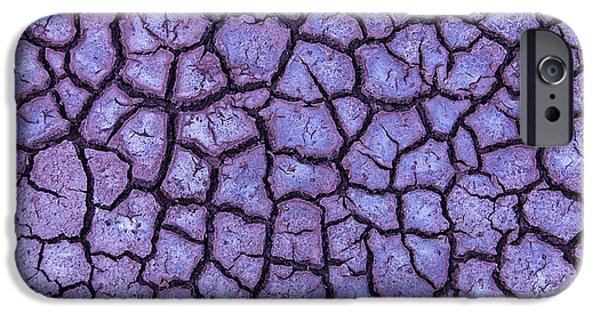 Terrestrial iPhone Cases - Cracked Dry Earth iPhone Case by Garry Gay