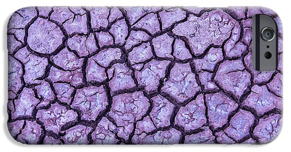 Terrestrial iPhone Cases - Cracked Earth iPhone Case by Garry Gay