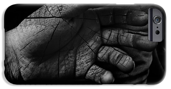 Texture iPhone Cases - Cracked Hand iPhone Case by Austin Howlett