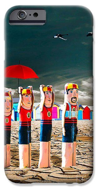 Flight iPhone Cases - Cracked V - The Life Guards iPhone Case by Chris Armytage