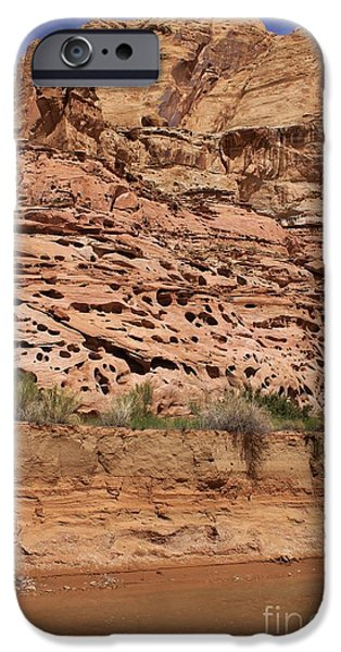 Slickrock iPhone Cases - Cracks in the Gorge iPhone Case by Tonya Hance