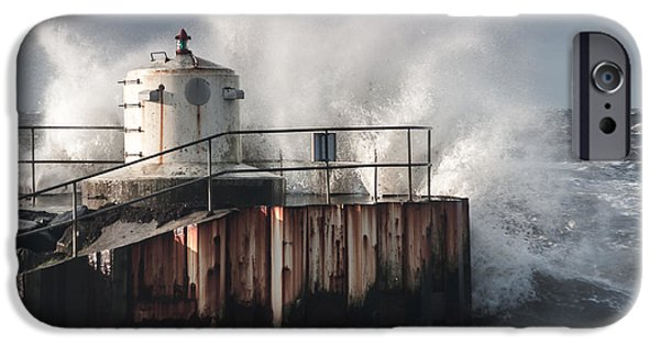 Turbulent Skies iPhone Cases - Crash In To Me iPhone Case by Marcus Karlsson Sall